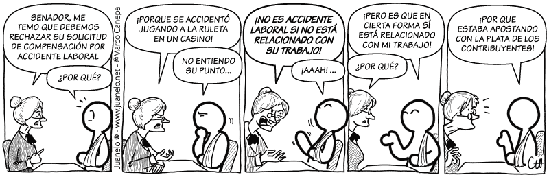 Juanelo en Terra 199 - Accidente laboral